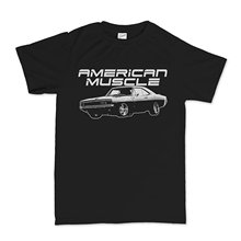 Men T-Shirt Men Clothing Plus Size Top Tee American Muscle 70s Dodge Charger Classic Car  T shirt