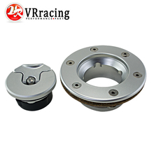 VR RACING- Aluminum Billet Fuel Cell / Fuel Surge Tank Cap Flush Mount 6 bolt Mirror Polished Opening ID 35.5mm VR-SLYXG01