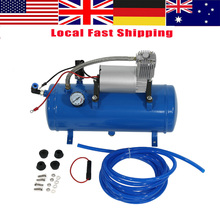 WALFRONT 150psi 12V Air Compressor with 6 Liter Tank Tyre Inflator Pump for Air Horn Train Truck Tire(China)