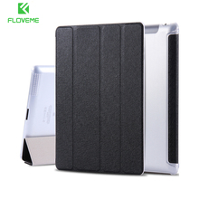 FLOVEME For iPad 2 3 4 Silk Leather Matte Cover For Apple iPad 2 3 4 Folded Full Tablet Clear Back Shell Case For i Pad 2 3 4(China)