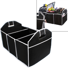 Home Car Seat Organizer Trash Bin AUTO Trunk Cargo Collapsible Storage Black Folding Zakka Boxes Sundries For Organiser Box(China)