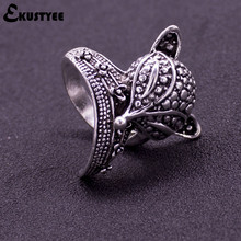New Arrival Fashion Antique Silver Plated Cute Animal Fox Ring Simple Wedding Rings for Women Party Gift Fashion Jewelry