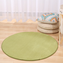 Living Room Carpet Coffee Table Bedroom Rug Round Coral Velvet Carpet Computer Chair Tatami Cradle Mat 80cm 100cm 120cm 160cm(China)