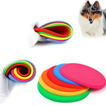 Fantastic Pet Dog Flying Disc Tooth Resistant Training Toy Play Frisbee Tide Free Shipping(China)