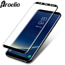 Proelio 3D Curved Full Tempered Glass For Samsung Galaxy S8 Luxury 9H Screen Protector Film For Samsung Galaxy S8 plus Glass(China)