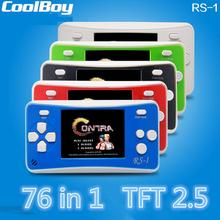CoolBoy handheld game consoles RS-1 2.5 Inch LCD 76 Games Portable Handheld Video Game Player Games Children's Toys Gift(China)