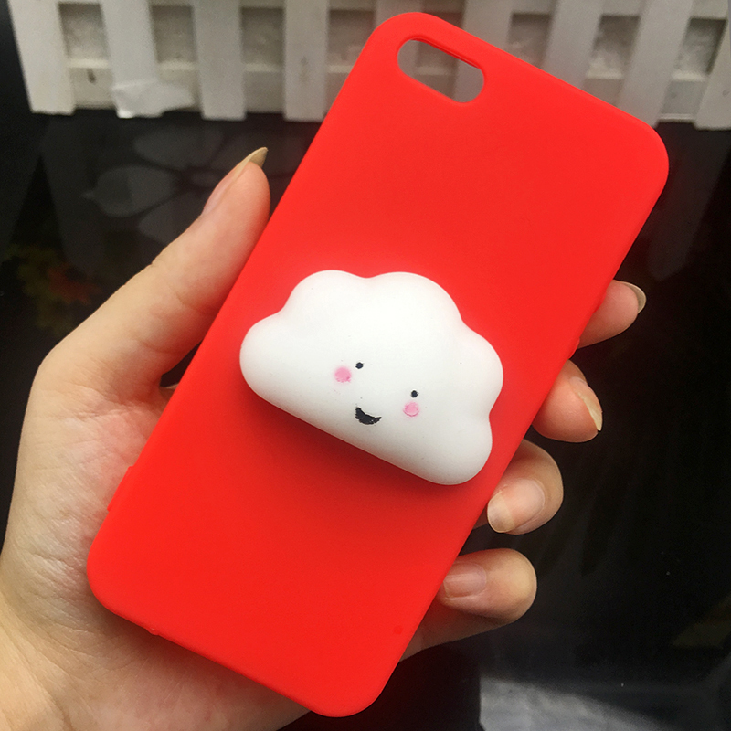Cute 3d Squishy Cat Silicon TPU Soft Cases For iphone 5 5S SE 6 6s plus Candy Color Back Cover 5 S 7 7plus 8 8plus X phone cases (7)