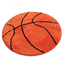 Large Size Round Carpet Living Room Coffee Table Upholstery Bedroom Floor Carpet Cartoon Basketball  Mats Can Be Customized