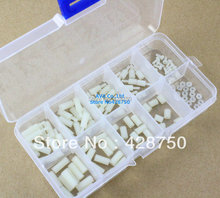 M2 Nylon Hex Spacers Screw Nut Assortment Kit Stand off Plastic Accessories Set