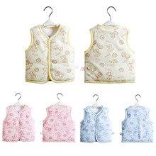 Baby Boys Girls Outerwear Clothes Cotton Vest Jackets Kids Warm Clothing Autumn Winter Wear Cartoon pattern Vests Children
