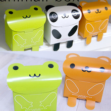Wholesale Cute Panda Bear Frog Design Snak Box, Small Cartoon Box , Candy Box, Party Favor Cookies Cake Gift Box 25pcs/lot