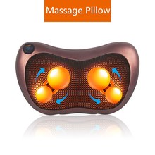 Massage Device Neck Relaxation Pillow Massage Vibrator Electric Shoulder Back Massager Car.shiatsu Massage Pillow With Heating