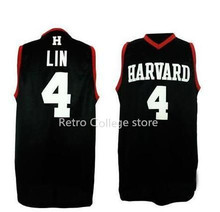 basketball jersey Harvard University #4 Jeremy Lin retro mens retro throwback college Sports All Stitched Cheap customize