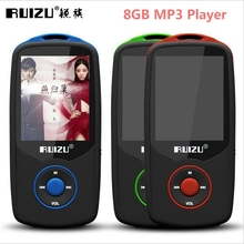 Free Music Downloads Media Bluetooth MP4 Player of 8gb Can Play 100 hours, Original RUIZU X06  FM, Clock Support 64gb TF card