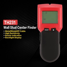 Digital Handheld Lcd Display Wall Stud Center Scanner TH231 Wood Metal AC Live Wire Cable Warning Detector Finder