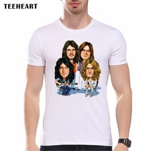 TEEHEART Led Zeppelin Men's Hipster Cool T shirt Novelty Tops Head Print Short Sleeve Tees ra089(China)