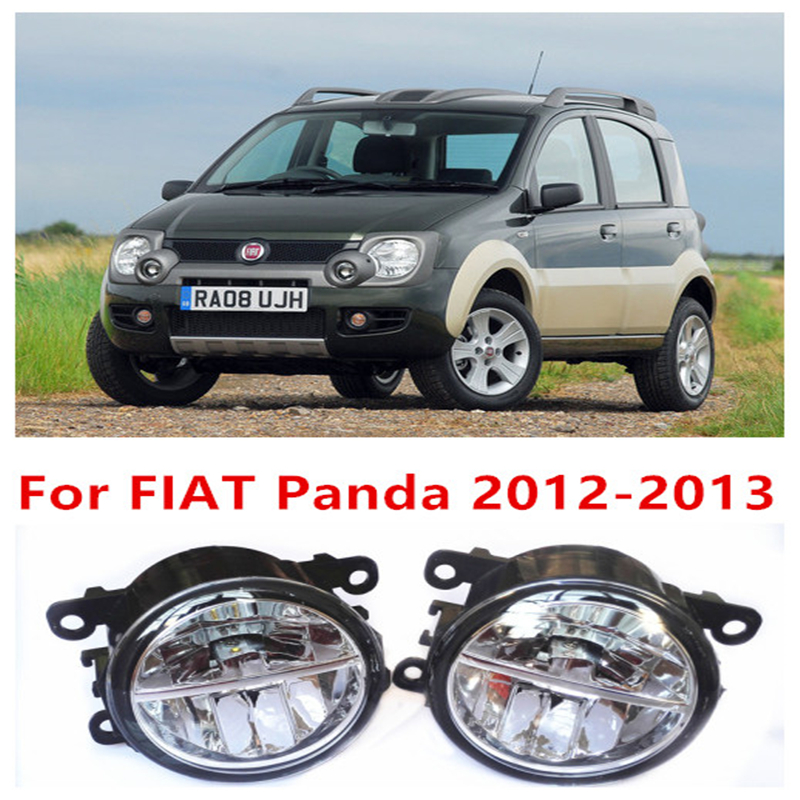 For FIAT Panda 2012-2013  10W Fog Light LED DRL Daytime Running Lights Car Styling lamps<br>