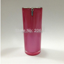 15ML dark pink acrylic airless bottle with airless pump can used for BB cream or serum or founation or lotion packing