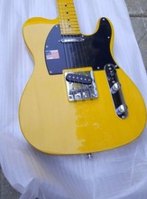 High Quality yellow tele guitar Ameican standard telecaster electric Guitar in stock on sale free shipping