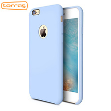 TORRAS Liquid Silicone Rubber Case for iPhone 6 7 Accessories Soft Phone Cover Case Microfiber Cushion Case for iPhone 7 7 plus(China)