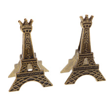 1pcs Effiel Tower Paris Metal Memo Paper Clips For Message Decoration Photo Office Supplies Accessories Free Shipping(China)