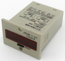 JDM11-6H 4 pin DC 12V contact signal input digital electronic counter relay JDM11 12VDC production counter(China)