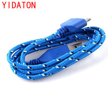 Blue Braided Fabric USB Data Sync Charger Cable Phone Charging Wire For iPhone 4s 4  Hot Selling