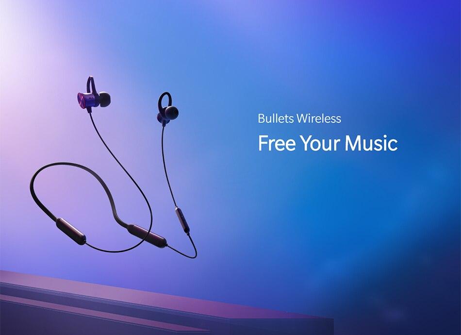 Original Oneplus Bullets Wireless Earphones aptX Neckband For Oneplus 6 Music Freedom Charging Stress Bluetooth Earbuds Earphone (10)