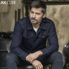 AK CLUB Men Jacket Eisenhower Nikolaj Coster-Waldau Advertised Boutique Collection Vintage Jacket Slim Fit Denim Jacket 1604136(China)