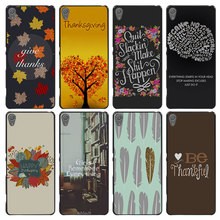 Thanksgiving Style Case Cover for Sony Ericsson Xperia X XZ XA XA1 M4 Aqua E4 E5 C4 C5 Z1 Z2 Z3 Z4 Z5(China)
