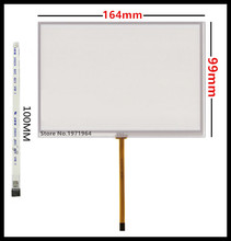 Ultra HD 7 inch 164 mm*99 mm Resistive Touch Screen touch panel glass Digitizer for Car DVD GPS navigator