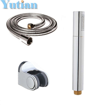Hot selling free shipping !! hand shower set solid brass hand shower +1.5M stainless steel shower hose +holder shower accessory