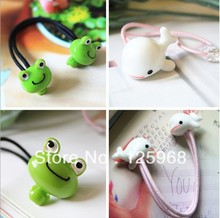 Free Shipping!New 20pcs/lot Girl Kids Tiny Hair Accessary Frog&Whale Animal Hair Bands Elastic Ropes Ties Ponytail Holder(China)