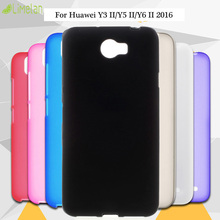 Limelan New For Huawei Y3 II/Y5 II 2/Y6 II 2 Pure Black TPU Matte Silicon Gel Skin Phone Back Case Cover for Huawei Honor 5 5A