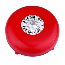 Calling System Round Bell AC 220V Factory Fire Alarm Safety Electric Bell 150mm Sparkless Bell For Factory Enterprises F3338C(China)