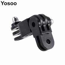 YOSOO Universal  Long / Short Straight Joint Adapter Mount Set For GoPro Hero 4 3+3 2 1 Sports Action Camera Accessories Parts