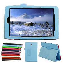 "PU Folio Flip Magnetic Stand Leather Case Skin Shell Cover For Dell Venue 8 3830 V8 8"" inch Tablet PC"