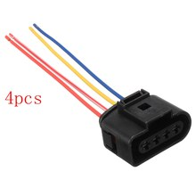 4pcs/lot 1J0973724 New Ignition Coil Connector Plug Pack Wiring Loom For AUDI /VW /SKODA SEAT for FORD(China)