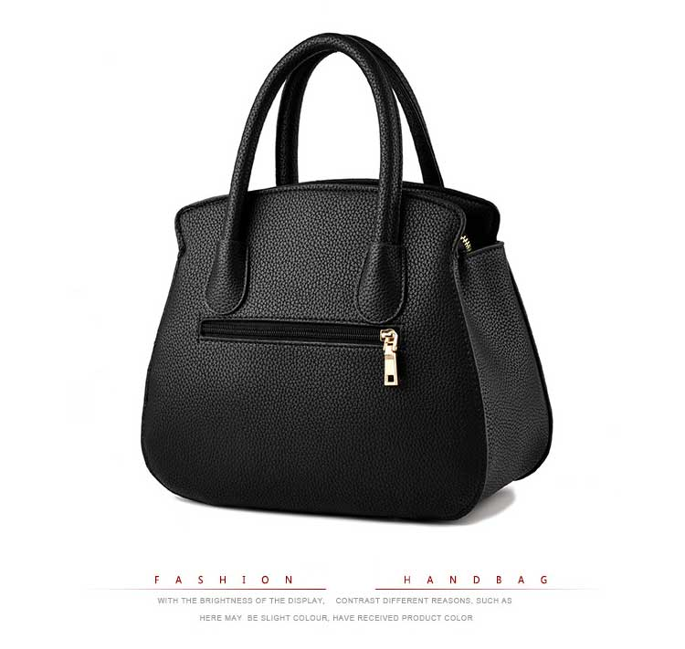 2018 Fashion Ladies Hand Bag Women's PU Leather Handbag Black Leather Tote Bag Hobos Bolsas femininas Female Shoulder Bag