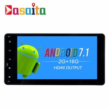 "Dasaita 7"" Android 7.1 Car GPS Player Navi for Mitsubishi Outlander Lancer-X ASX 2014-2015 with 2G+16G Quad Core Stereo No DVD"