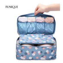 FUNIQUE Bra 1 Pc Underwear Lingerie Travel Bag For Women Clothes Storage Organizer Trip Luggage Traveling Pouch Case Space Saver
