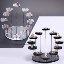 New Arrival 7- Layer Round Jewelry Display Desktop Earring Holder Ring Display Rack Shelf Jewelry Show Stand Shelf(China)