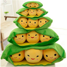 "One Piece Super Cute Little Pea Plush Toys 3 Peas in a Pod s Stuffed Plush Doll Toy 5"" 13cm 9"" 24cm 15"" 38cm 19""Wholesale A21(China)"
