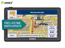 OHREX 7 Inch Truck Vehicle Car GPS Navigation with Europe Russian Maps Preloades,Capacitive Screen and Bluetooth AV IN(China)