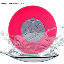 [HETNGSYOU]Handsfree Wireless Waterproof  bluetooth Speaker Bathroom Shower Surround stereo Subwoofer Sucker Portable Speakers