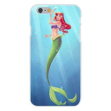 For Apple iPhone 4 4S 5 5C SE 6 6S 7 7S Plus 4.7 5.5 Soft TPU Silicon Cover Case Tinkerbell Ariel In The Sea