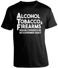 ATF Shirt - Alcohol Tobacco and Firearms T-Shirt Short Sleeve T-Shirt Free Shipping Tops Summer Cool Funny T-Shirt(China)