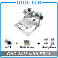 CNC 2418 with ER11 (laser options),mini cnc engraving machine,Pcb Milling Machine,Wood Carving machine,cnc router,cnc2418 GRBL