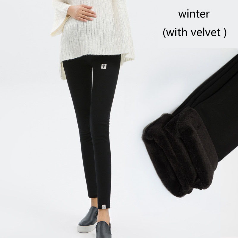 Plus Size Winter Velvet Pregnancy Leggings Pants For Pregnant Women Maternity Leggings Warm Clothes Thickening Trousers Clothing 10