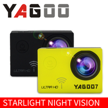 YAGOO7 4 K wi - fi action mini video camera cam 170 degree wide angle sport full HD 1080 P 60fps go to proof water 40 m PRO
